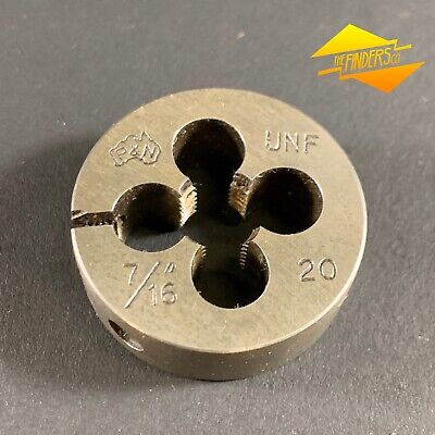 "*Near New* P&N 7/16"" 20 Unf Button Die 1.5"" Diameter Made In Australia P&Nbd3"