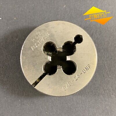 "*Near New* P&N 3/8"" 24 Unf Button Die 1.5"" Diameter Made In Australia P&Nbd3"