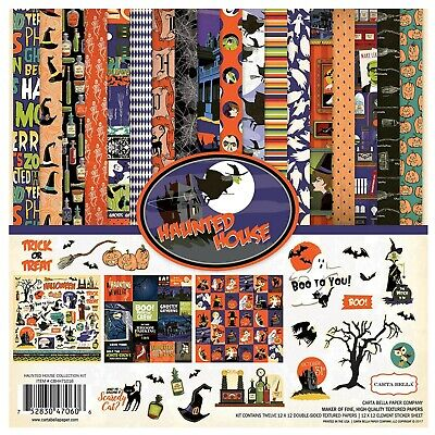 """Carta Bella Haunted House Collection 12"""" x 12"""" Collection Kit Halloween Paper"""