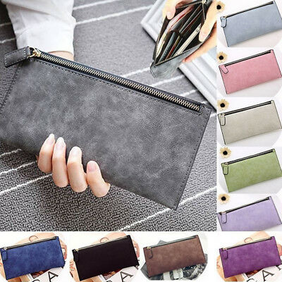 Women Lady PU Leather Clutch Long Wallet ID Card Phone Holder Purse Handbag