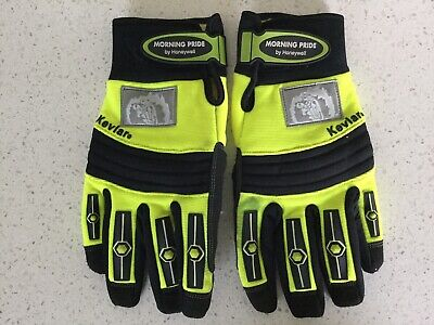 Firefighter Extrication Gloves Kevlar Used  Size L