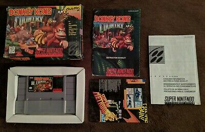 Donkey Kong Country (Super Nintendo, SNES) Complete in Box - Tested