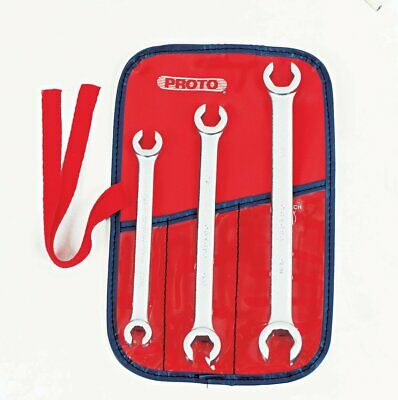 Proto J3760 Double End Flare Nut Wrench Set 6 Point