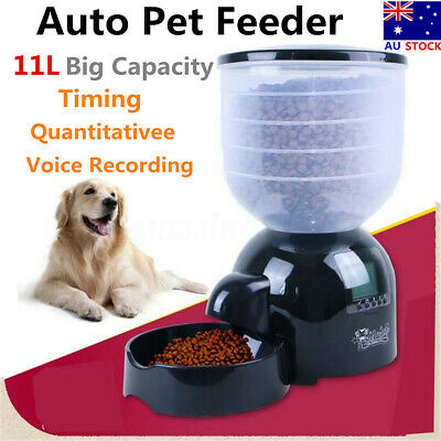 HOT ! 11 Liters Automatic Pet Feeder Auto Self Timer Food Dispenser Dog Cat Bowl