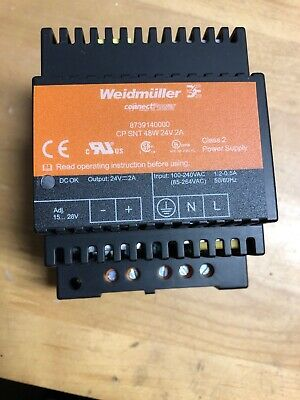 Weidmuller 8739140000 Cp Snt 48W Power Supply 24V *Used*