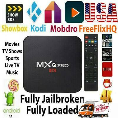 TV Box Android 7.1 Quad Core Smart 1080P HDMI WIFI KODI 17.6 MXQ Pro 4K 3D 64Bit