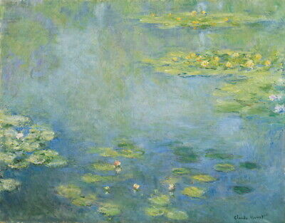 water landscape #1 by Claude Monet Giclee Reproduction on Canvas Water lilies
