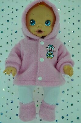 "Play n Wear Dolls Clothes For 13"" Baby Alive PINK JACKET~TIGHTS~BOOTIES"