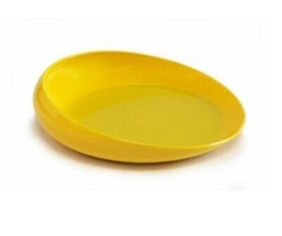 Round Scoop Dish Plate w/ Raised Sides Scooper Bowl Unbreakable Adaptive Equip't