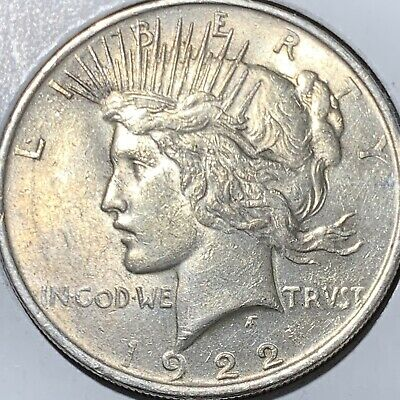 1922 Peace Silver Dollar! ABOUT UNCIRCULATED+++ ORIGINAL COIN!!!