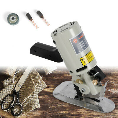 Electric Cloth Textile Cutter Rotary Octagon Blade Leather Cutting Machine 200W
