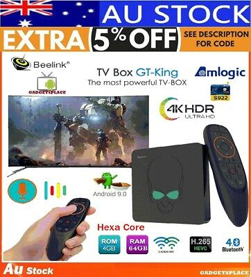 ✅Beelink GT-King TV Box Android 9 Hexa Core 4GB 64GB S922X Voice Control 4K Kodi