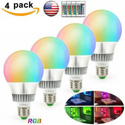 10W E26 Multi Color Changing RGB LED Light Bulb Magic Memory Lamp+Remote Control