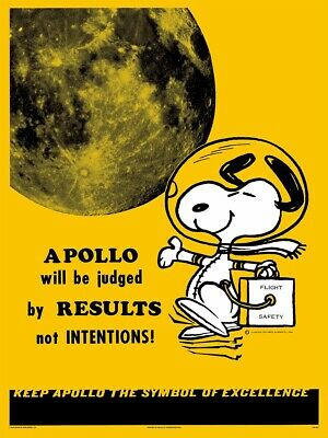 Mondo Peanuts Snoopy Apollo Safety Poster Print 2019 SDCC CON Exclusive NASA