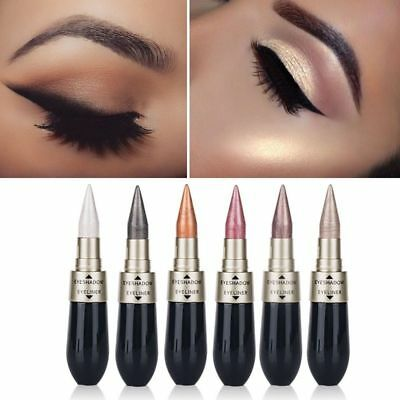 6 Colors 2 In 1 Liquid Eyeliner Eyeshadow Eye Makeup Pencil Metallic Shimmer