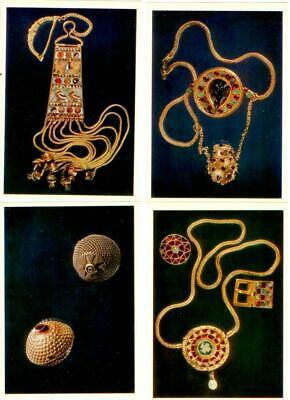 Ancient Jewellery Ornaments. Museum of Georgia. 16 postcards in the folder. 1978
