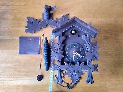 Vintage German cuckoo clock for spares or repair