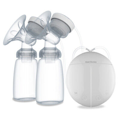 Electric Hand Free Double Breast Pump Automatic Intelligent Baby Feeder USB