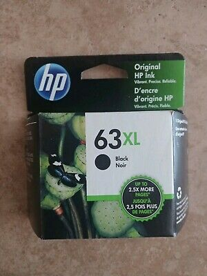 NEW Unopened HP 63XL Black Ink Cartridge EXP 2021.