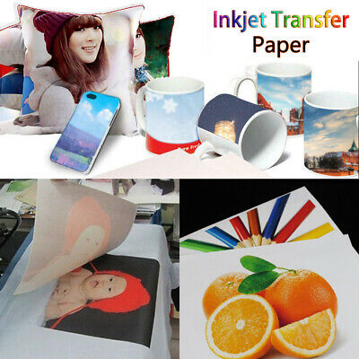 2/10Pcs T Shirt A4 Transfer Paper Iron On Heat Press Light Fabrics Inkjet Print