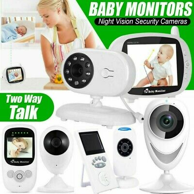 "2.4""- 3.5"" Audio Video Baby Monitor IR Digital Camera Safety Viewer Night Vision"