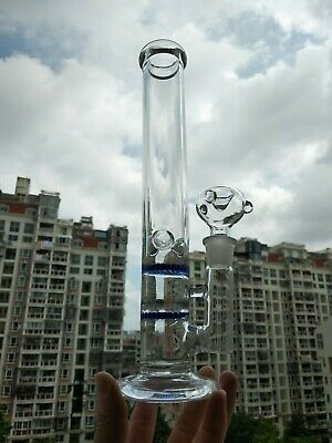 Metier 11.8 inch Tall Glass Bong 2 Honeycomb Water Bongs Smoking Hookah Pipes