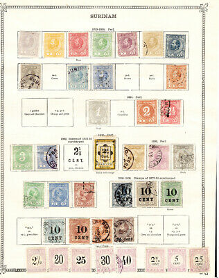 SURINAM collection on 7 album pages