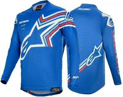 2020 Alpinestars Racer BRAAP Blue Off White Kids Youth Motocross MX Jersey
