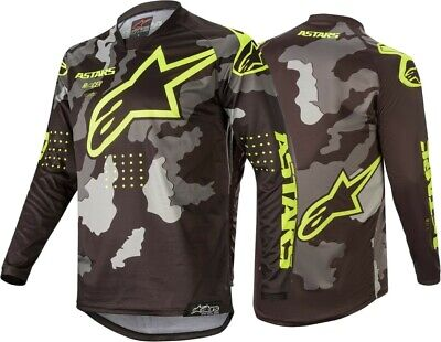 2020 Alpinestars Racer TACTICAL Camo Grey Flo Yellow Kids Youth Motocross Jersey