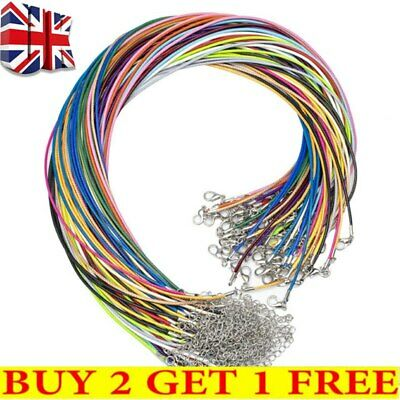 Wholesale 4 color Bulk Lot 10 pcs PU Leather String 20inch Necklace Cord Jewelry