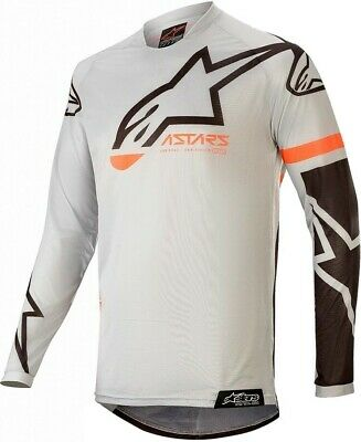 2020 Alpinestars Racer COMPASS Light Grey Black Kids Youth Motocross MX Jersey
