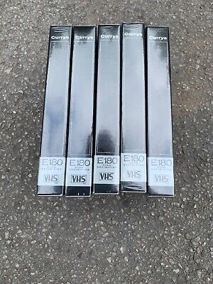 Pack of 5 Blank Curry's 180 High Definition VHS Video Tapes New Unused Sealed