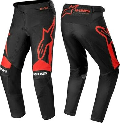 2020 Alpinestars Racer SUPERMATIC Bright Red Black Motocross MX Race Pants Adult