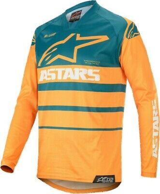 2020 Alpinestars Racer SUPERMATIC Petrol Orange Motocross MX Race Jersey Adult