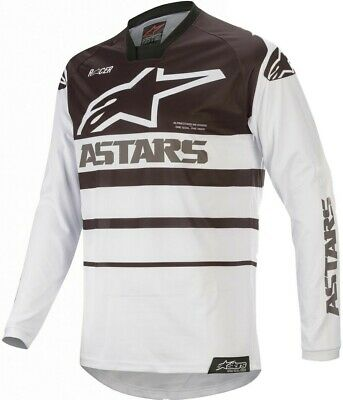 2020 Alpinestars Racer SUPERMATIC White Black Motocross MX Race Jersey Adult