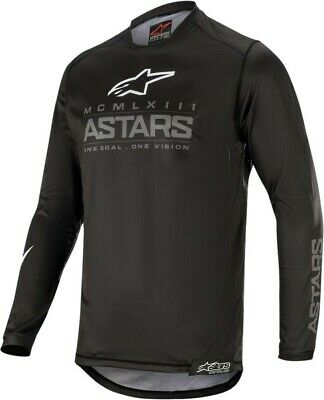 2020 Alpinestars Racer GRAPHITE Black Dark Grey Motocross MX Race Jersey Adult