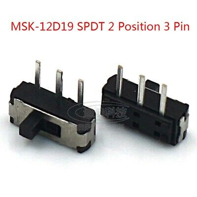 ON-OFF Micro Slide Switch SPDT 2 Position 3 Pin PCB Panel Microswitch SMD Switch