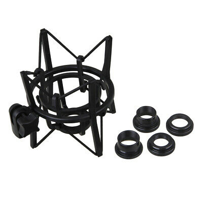 Large Spider Shock Mount & 4x Thread Buttons Black For Newman U87 Micropone