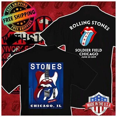 The Rolling Stones Chicago IL Soldier Field June 25 2019 No Filter Tour T-Shirt
