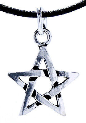 118: Pentagram Protective Amulet White Magic Silver 925 Band/Necklace Pendant