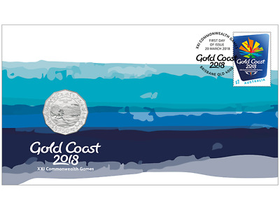 Gold Coast 2018 Commonwealth Games 50c pnc