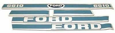 Ford 6610 Decal Kit - Blue & White