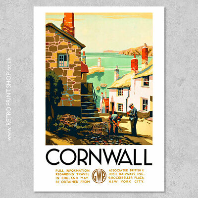 GWR Cornwall Poster #2 - Railway Posters, Retro Vintage Travel Poster Prints