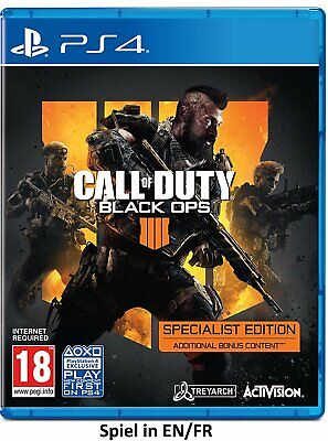 COD Call of Duty Black Ops 4 IV Specialist Edition (PS4) (New) (Uncut) (Quick