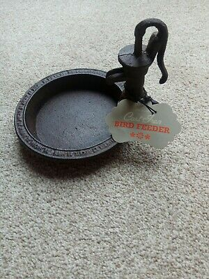 Cast Iron Bird Feeder or Bath  BNWT