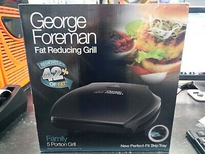 George Foreman Fat Reducing 5 Portion Family Grill