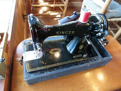 Vtg Singer Sewing Machine 99K serviced electric sew ready textiles NICE!