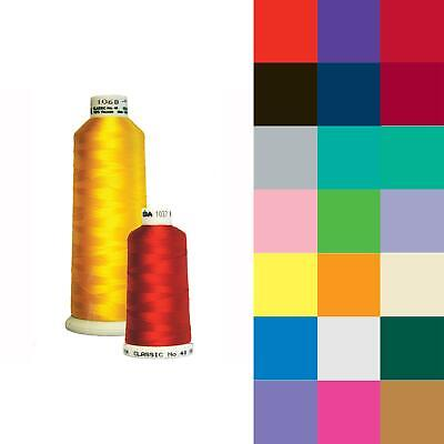 Madeira Classic No. 40 Machine Embroidery Thread (MR001) - 100% Viscose Rayon