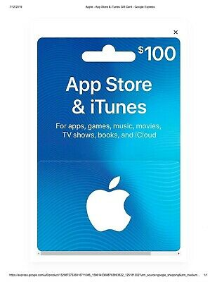App Store & iTunes Gift Cards - 100 $ Physical Gift Card