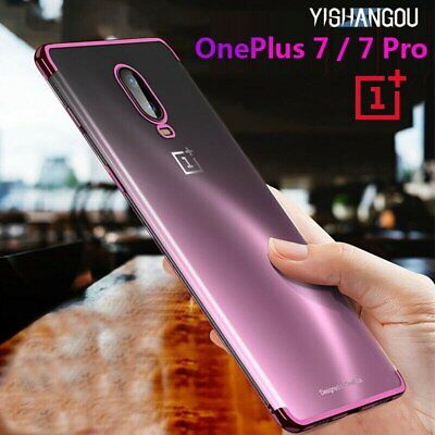 Luxury Ultra Thin Bright Crystal Plating Soft Clear Phone Case Cover For OnePlus
